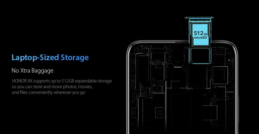 HUAWEI Honor 9X 4G Phablet 6GB RAM 128GB ROM- Blue