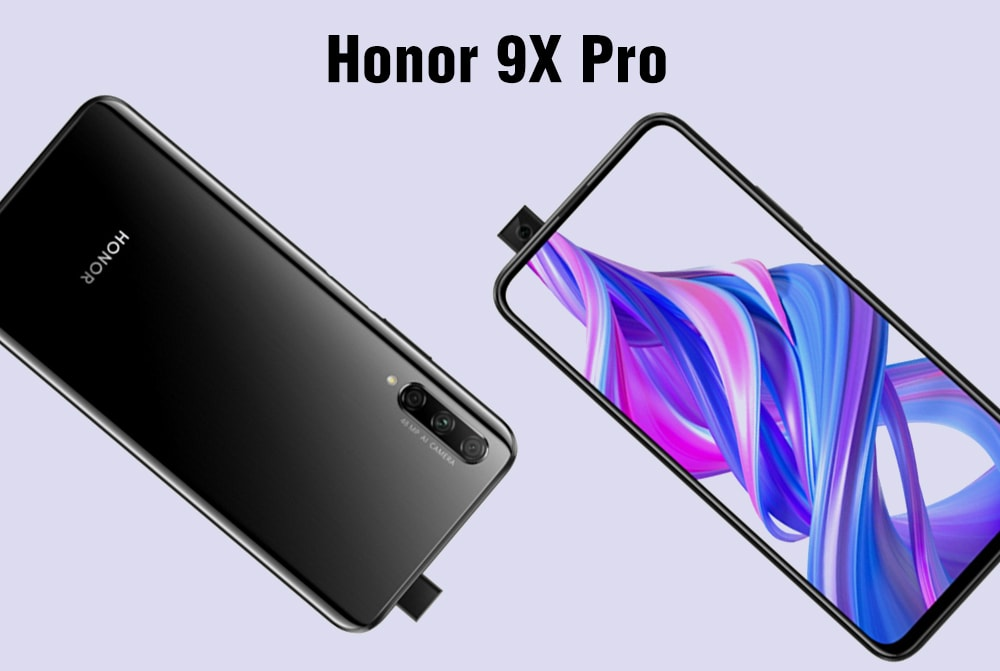 HUAWEI Honor 9X Pro 4G Phablet 6.59 inch EMUI 9.1.1 ( Based on Android 9.0 ) Hisilicon Kirin 810 Octa Core 2.27GHz + 1.88GHz 8GB RAM 256GB ROM 48.0MP + 8.0MP + 2.0MP Rear Camera 4000mAh Battery- Black