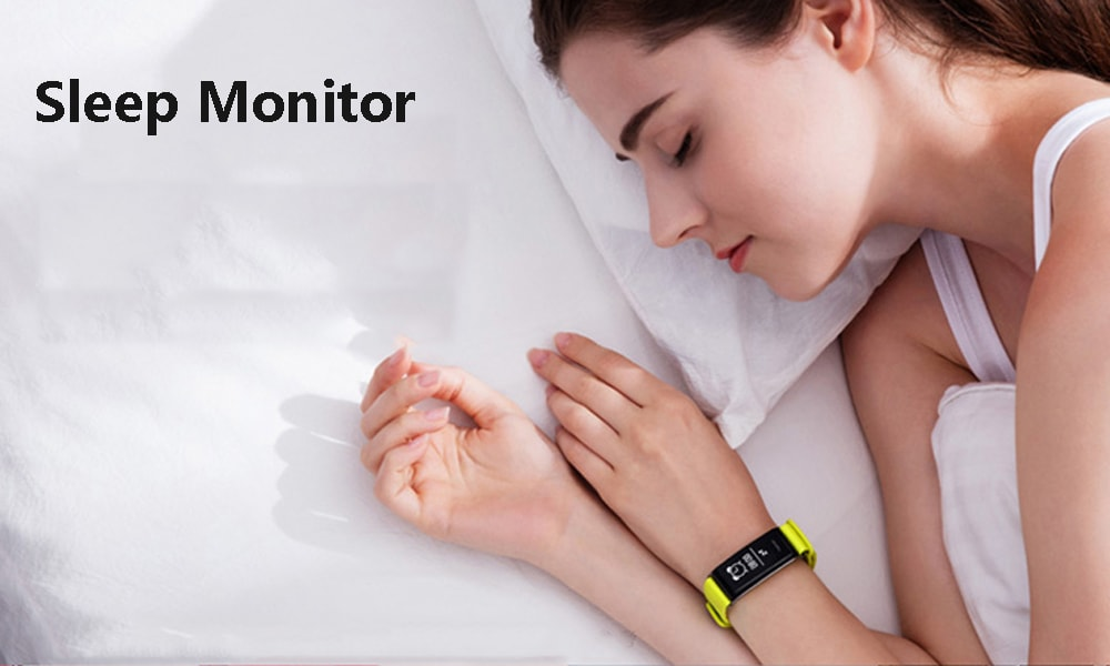 HUAWEI Honor A2 Intelligens karkötő Bluetooth 4.2 0.96 hüvelykes OLED képernyős pulzusszám / alvásfigyelő lépésszámláló ülő emlékeztető - fekete