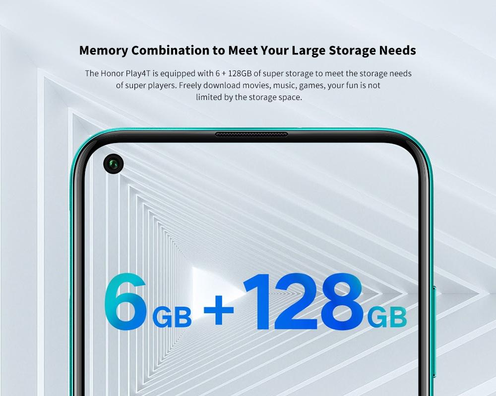 HUAWEI Honor Play4T 4G okostelefon memória