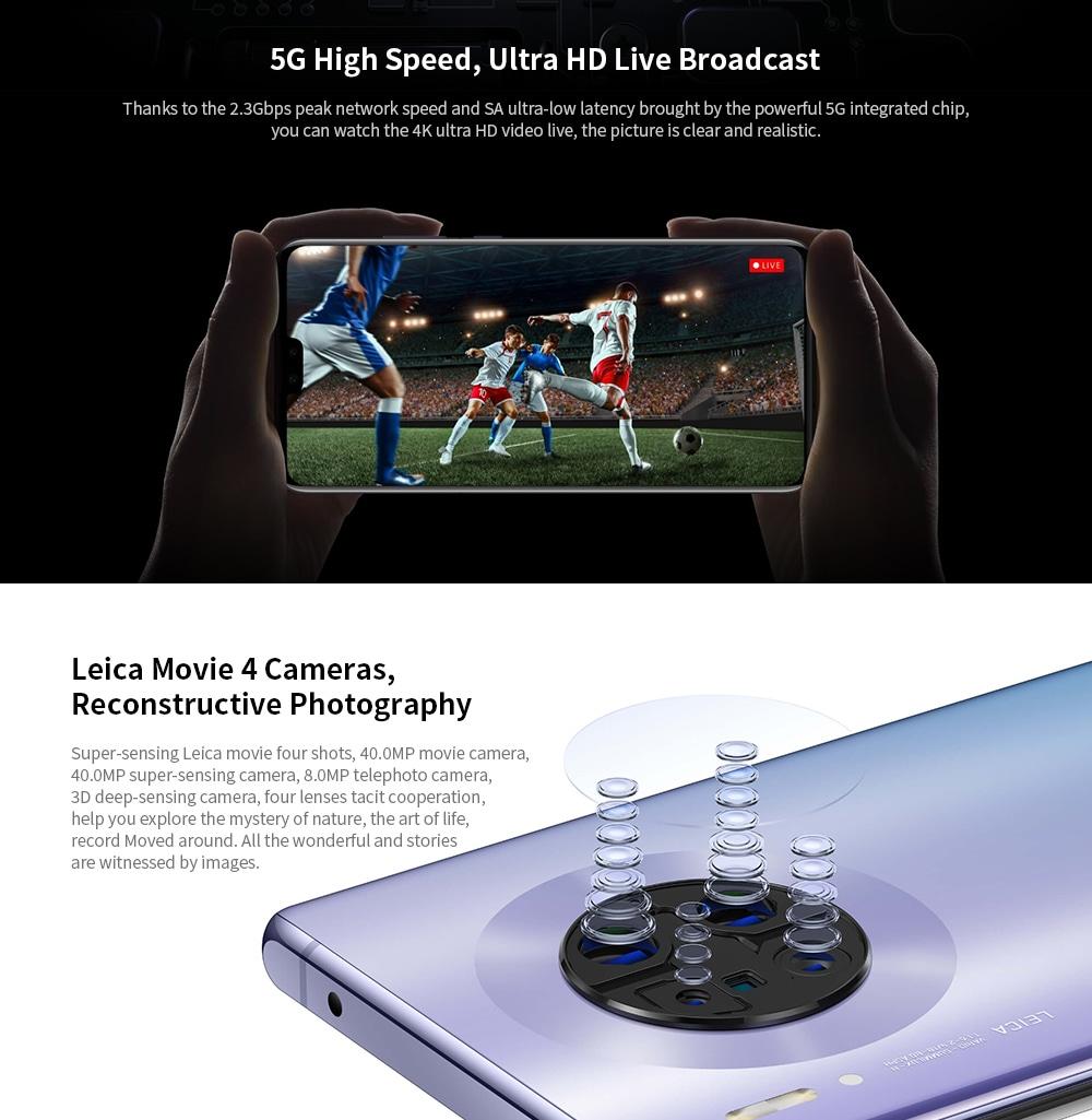 HUAWEI Mate 30 Pro 5G 5G Phablet 8GB RAM 256GB ROM- Silver