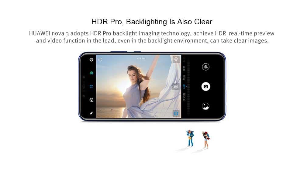 HUAWEI nova 3 4G okostelefon