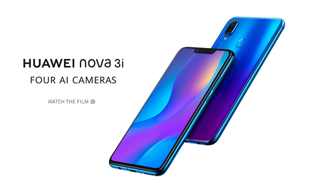 HUAWEI nova 3i 4G Phablet 6.3 inch Android 8.1 Kirin710 Octa Core 2.2GHz 4GB RAM 128GB ROM 16.0MP + 2.0MP Rear Camera Fingerprint Sensor 3340mAh Built-in- Purple