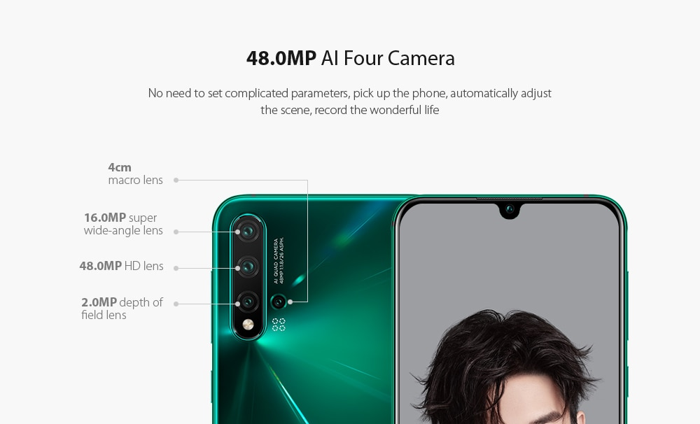 HUAWEI nova 5 Pro 4G Phablet 6.39 inch Android 9.0 Kirin 980 Octa Core 8GB RAM 256GB ROM 48.0MP + 16.0MP + 2.0MP + 2.0MP Rear Camera 3500mAh Battery- Dark Turquoise