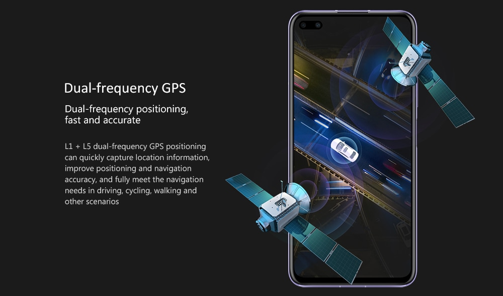 HUAWEI nova 6 5G 5G Smartphone 4200mAh Battery- Black 8+128GB
