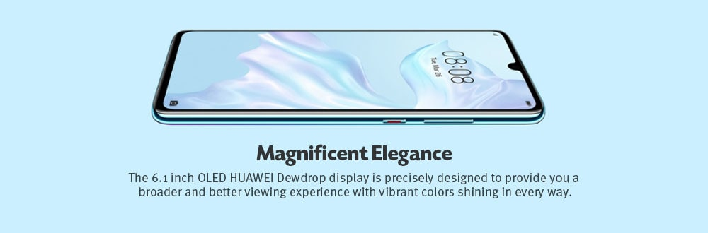 Huawei P30 4G Phablet 6.1 inch EMUI 9.1.0 ( Android 9 ) Kirin 980 Octa Core 2.6GHz 8GB RAM 64GB ROM 40.0MP + 16.0MP + 8.0MP Rear Camera 32.0MP Front Camera 3650mAh Built-in- Warm White
