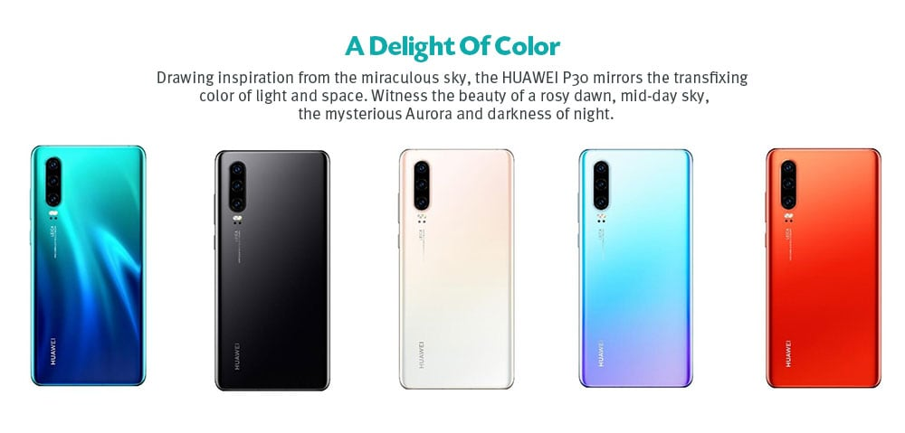 Huawei P30 4G Phablet 6.1 inch EMUI 9.1.0 ( Android 9 ) Kirin 980 Octa Core 2.6GHz 8GB RAM 256GB ROM 40.0MP + 16.0MP + 8.0MP Rear Camera 32.0MP Front Camera 3650mAh Built-in- Orange
