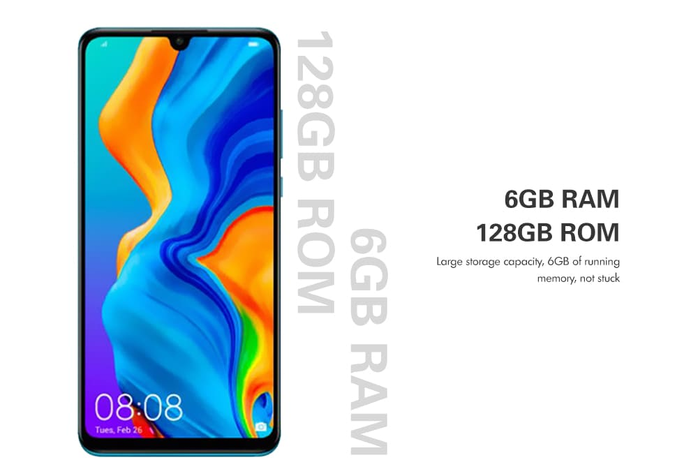 HUAWEI P30 Lite 4G Phablet 6.15 inch EMUI 9.0.1 ( Android 9.0 ) Kirin 710 6GB RAM 128GB ROM 24.0MP + 8.0MP + 2.0MP Rear Camera 3340mAh Battery- Blue