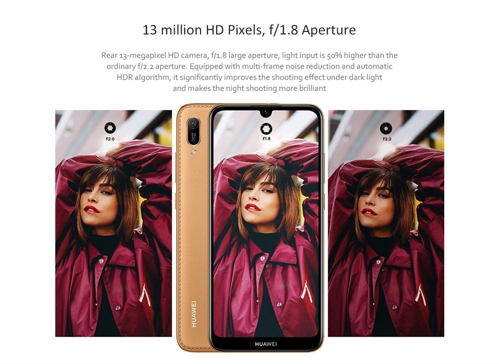 HUAWEI Play 9e 4G + Phablet 6.088 hüvelykes Android 9 (EMUI 9.0) MT6765 Octa Core 2.3GHz 3GB RAM 64GB ROM 13.0MP hátsó kamera arcazonosító 3020mAh Beépített - Fekete