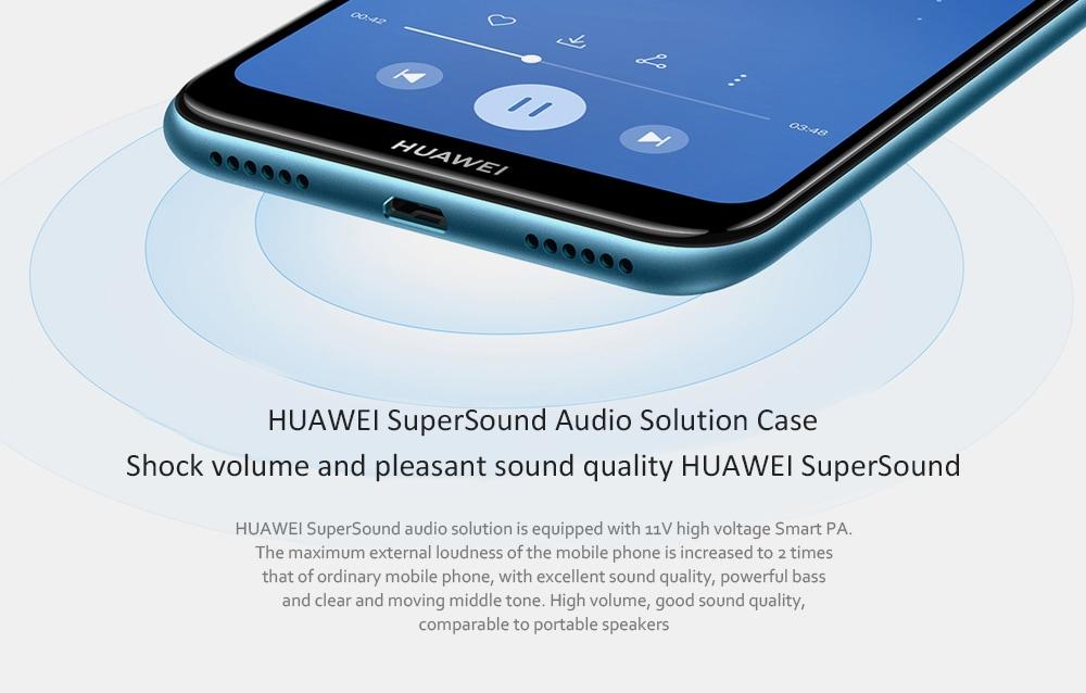 HUAWEI Play 9e 4G + Phablet 6.088 hüvelykes Android 9 (EMUI 9.0) MT6765 Octa Core 2.3GHz 3GB RAM 64GB ROM 13.0MP hátsó kamera arcazonosító 3020mAh Beépített - Barna