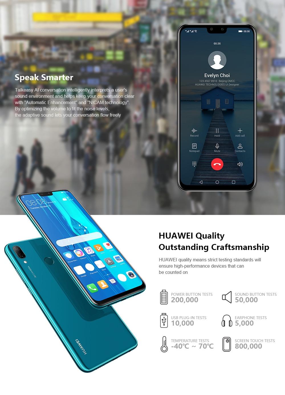 HUAWEI Y9 4G Phablet 4GB RAM 64GB ROM- Purple