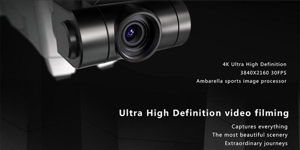 Hubsan H117S Zino GPS 5G WiFi 1KM FPV with 4K UHD Camera 3-Axis Gimbal RC Drone Quadcopter RTF- White EU Plug, 2 Batteries + 1 Storage Bag