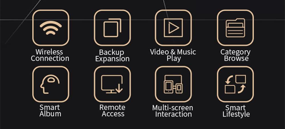 iBIG Stor 2,5 hüvelykes WiFi + USB3.1 hordozható merevlemez 1TB-fekete