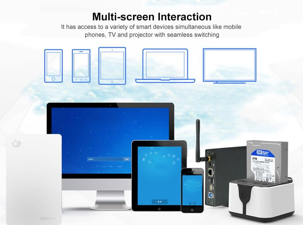 iBIG Stor XLWUWH1000101 2.5 inch 1TB Wireless Portable Hard Drive- White