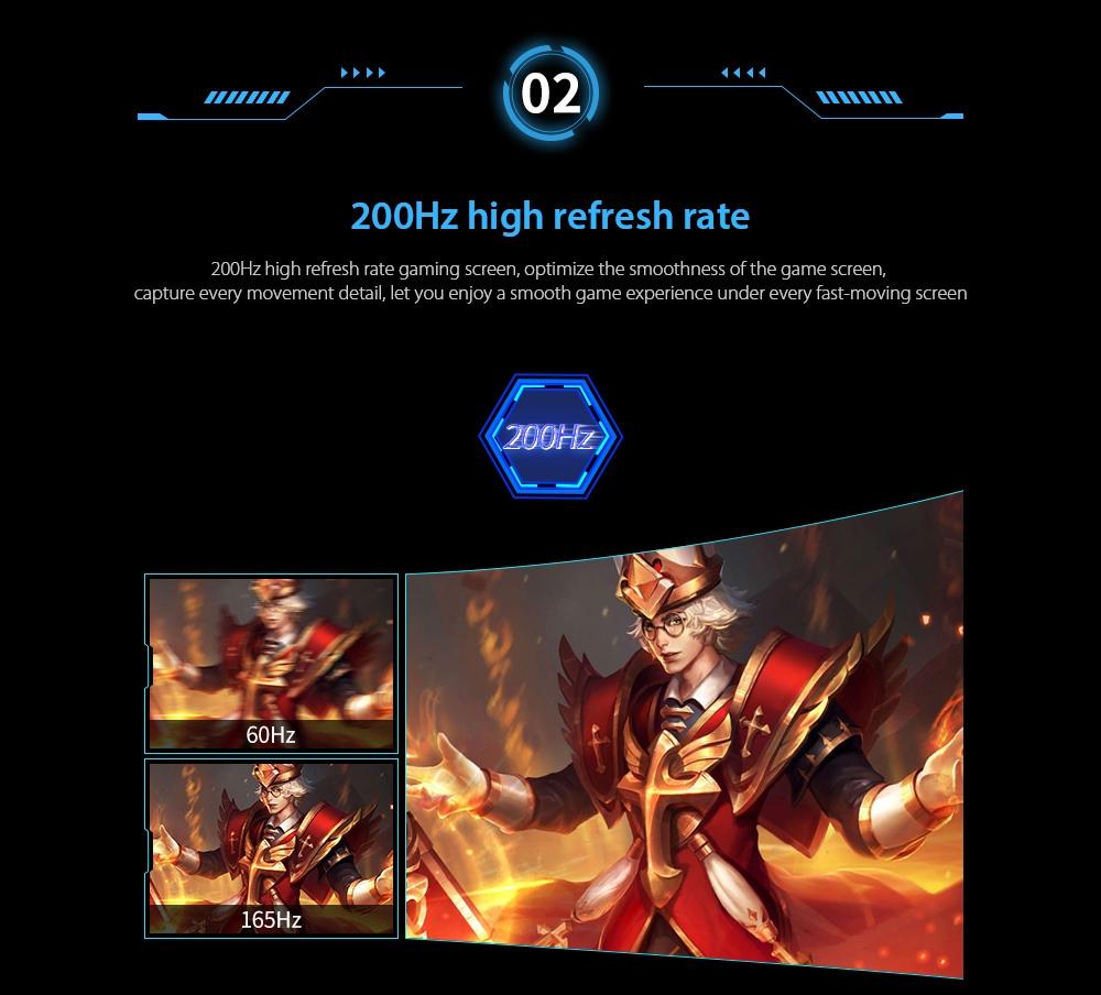 IDEADISPLAY YM27R 27 hüvelykes Gaming Computer Monitor 200Hz magas frissítési gyakorisággal