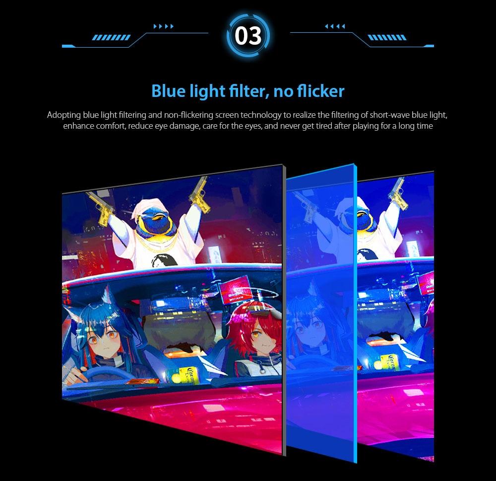 IDEADISPLAY YM27R 27 hüvelykes játékgép-monitor Kék fényszűrő, nem villog