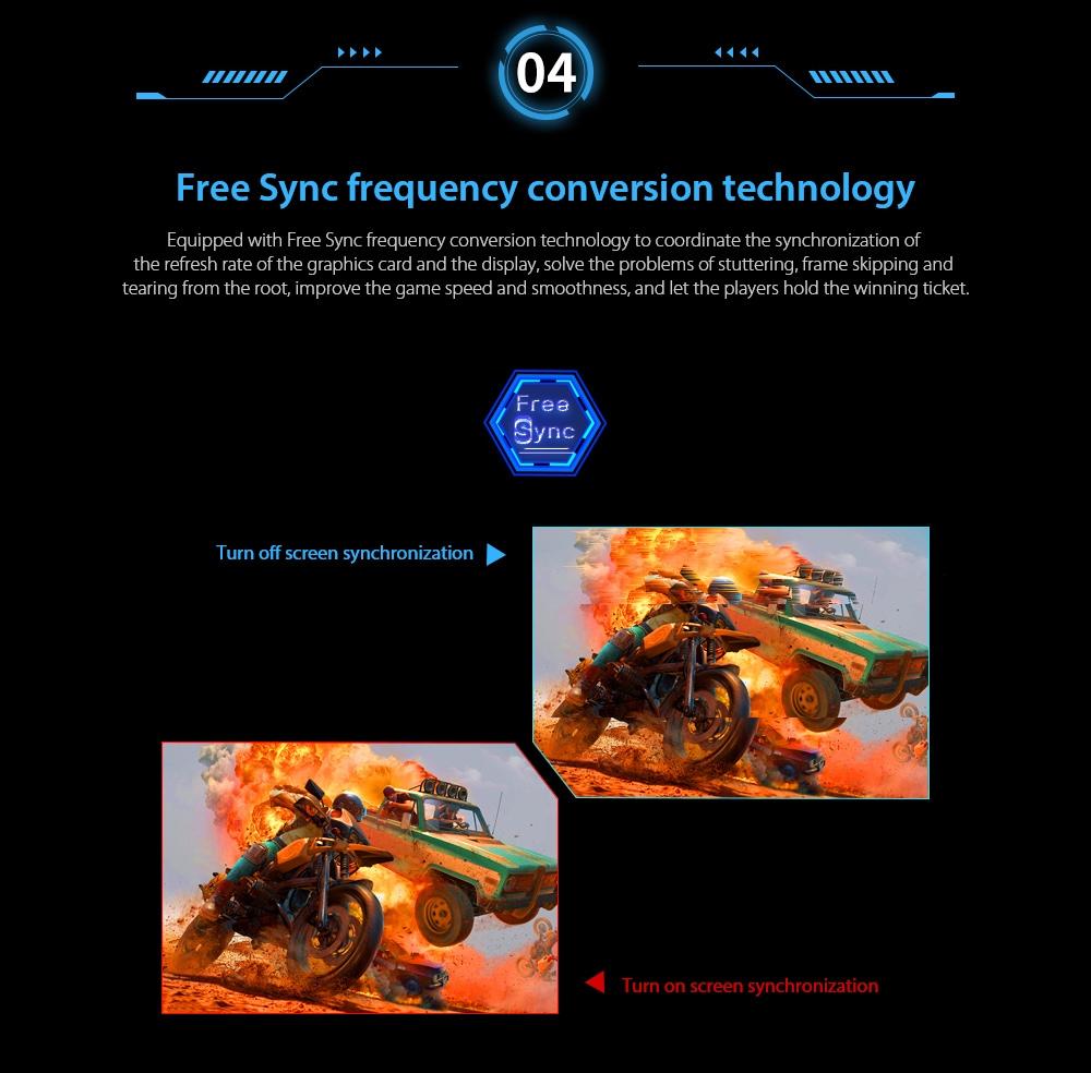 IDEADISPLAY YM27R 27 hüvelykes játék számítógépes monitor Ingyenes szinkronizálás frekvenciaváltási technológia