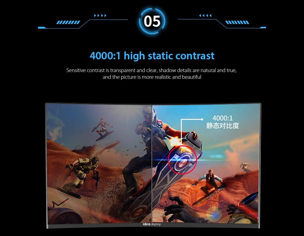 IDEADISPLAY YM27R 27 hüvelykes gaming computer monitor 4000: 1 nagy statikus kontraszt
