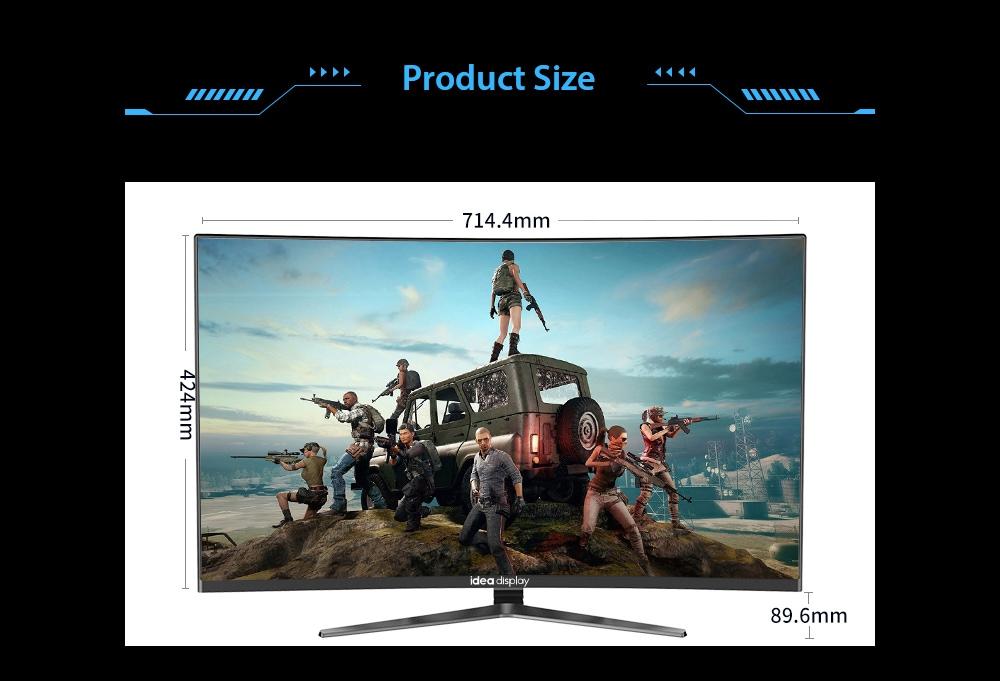 IDEADISPLAY YM27R 27 hüvelykes játékgép-monitor mérete