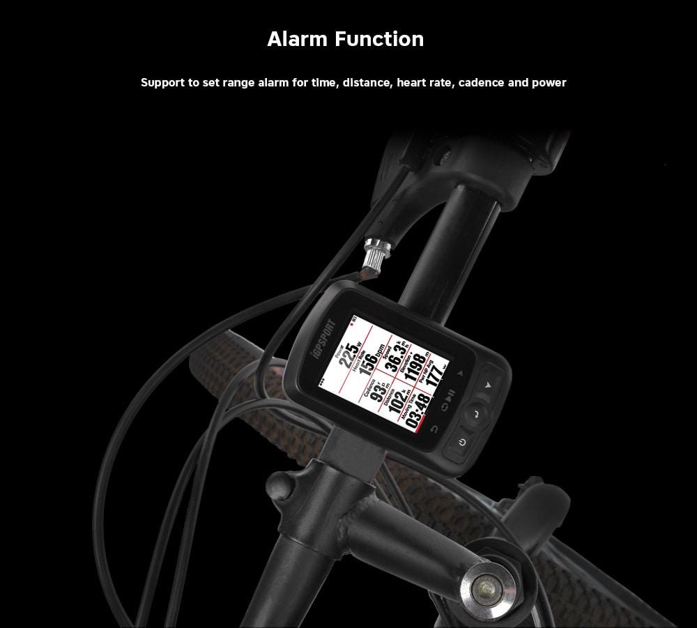 iGPSPORT iGS618 Bluetooth vezeték nélküli GPS kerékpáros számítógép - fekete