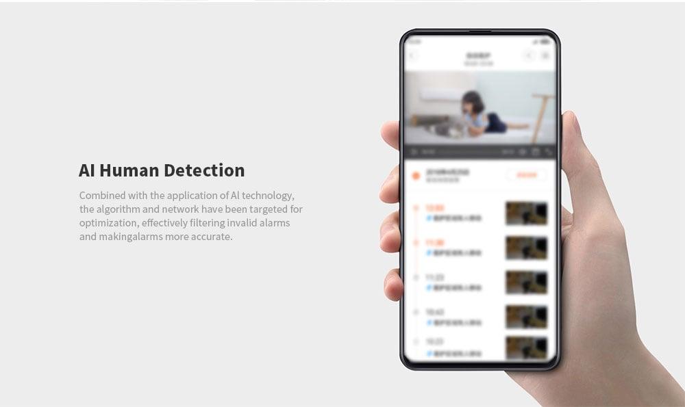 IMILAB 1080P HD intelligens vezeték nélküli IP kamera, beltéri megfigyelés, WiFi biztonsági monitor Pan Dönthető kétirányú Audio Night Night Vision mozgásérzékelő távirányító iOS / Android készülékre (Xiaomi Ecosystem Product) - Fehér UK Plug