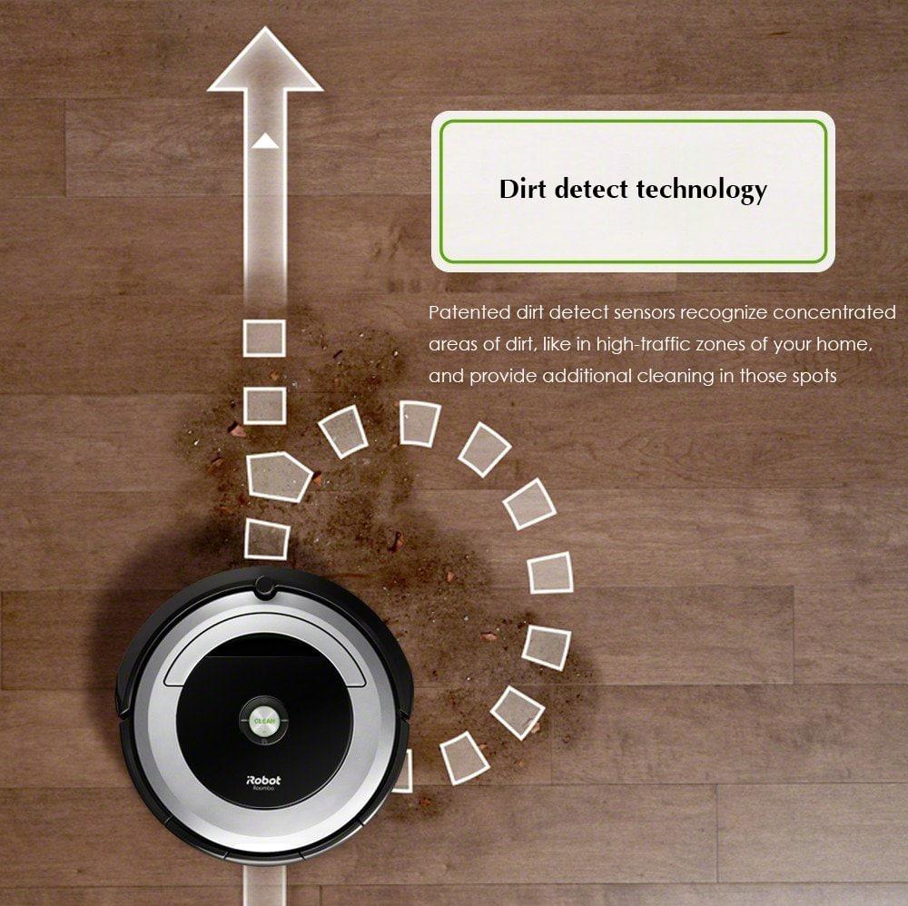 iRobot Roomba 694 Robot Porszívó WiFi-vel - Fehér