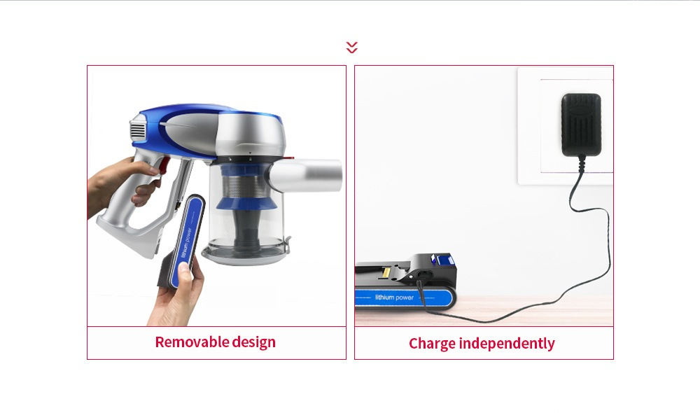 JIMMY JV83 Digitális motor / autós otthon 2-in-1 / erős teljesítmény / nagy szívó vezeték nélküli porszívó-óceán kék