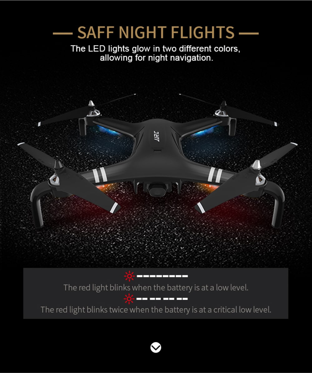 JJRC X7 Double GPS 5G WiFi 1080P FPV RC Drone - RTF Gimbal 23mins Flight Quadcopter- Black 2 Batteries
