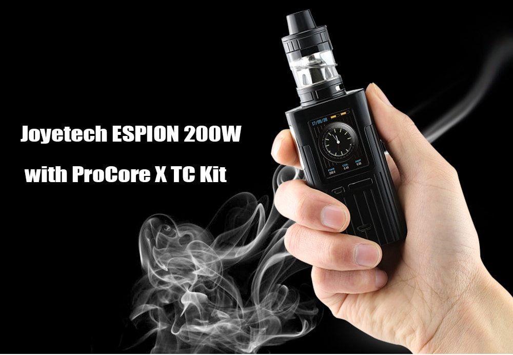 Joyetech ESPION 200W ProCore X TC Kit with 200 – 600F / 2 / 4.5ml for E Cigarette- Blue