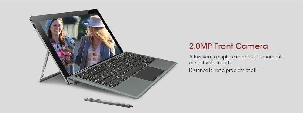 Jumper EZpad Go 2 az 1-ben Tablet PC 11,6 hüvelykes Windows 10 Apollo Lake N3450 Négymagos 1.1 GHz 4 GB RAM 128 GB SSD 2.0MP elülső kamera 3500mAh Beépített billentyűzettel és ceruzával - Ezüst