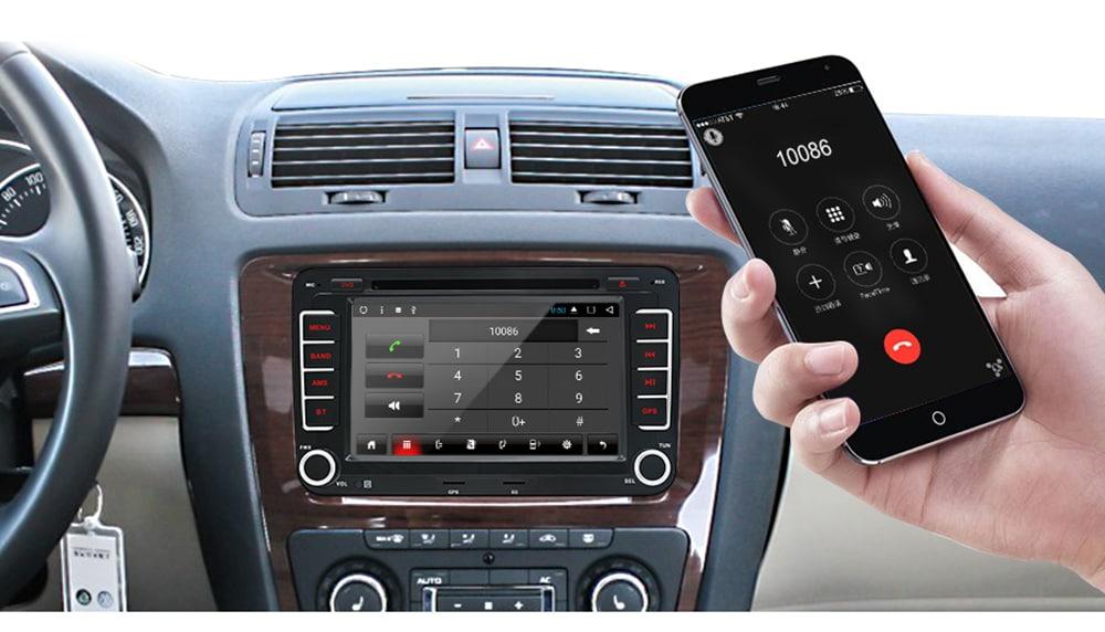 Junsun 2531.AS 2 Din Android Car DVD for VW / Golf / Passat / POLO / Tiguan / Skoda / Fabia / Rapid / Seat / Leon GPS 3G WiFi Autoradio- Black 1pc