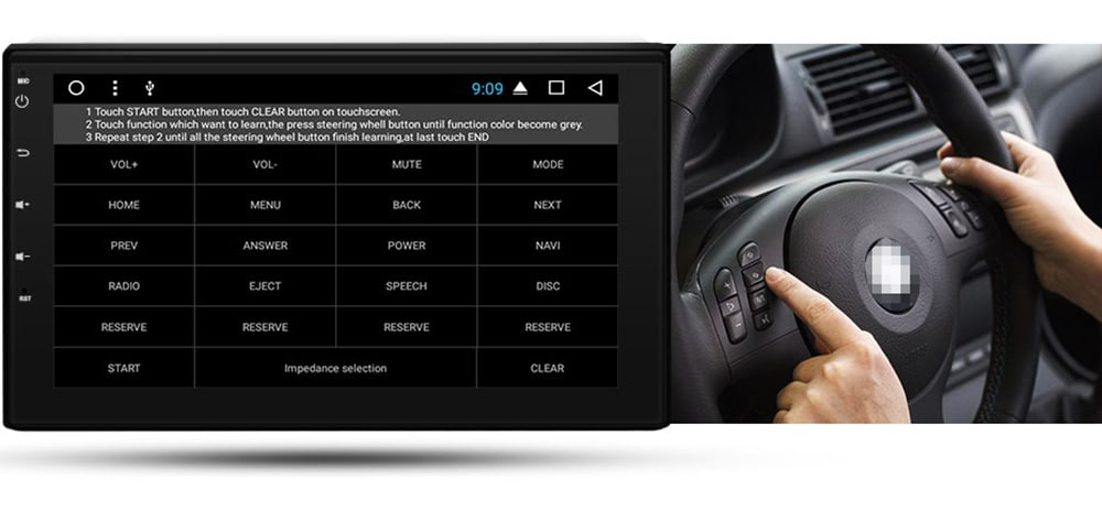 Junsun T362 2 Din 2G+32G Android 7.1 Car Multimedia Player Tap PC Tablet GPS Navigation for Nissan Auto-radio Stereo Headrest Radio- Black
