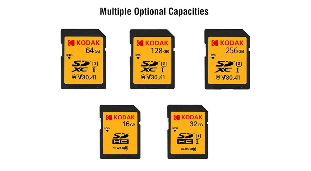 KODAK SD memóriakártya U1 Class 10 támogatás 1080P HD felvétel - mustár 16 GB
