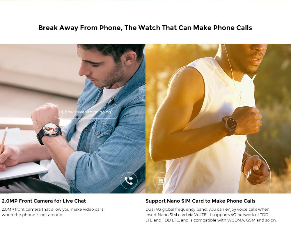 KOSPET Prime 4G intelligens nézetű telefon, 1,6 hüvelykes, dupla lencsével ellátott 1260mAh akkumulátor - fekete