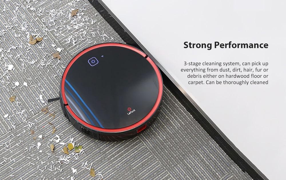 Lefant T700 Robot Porszívó 1800Pa Erõs szívóképességgel Szuper meglehetõsen nagyméretû WiFi kapcsolat Seprõmosó felmosó önfeltöltés - Fekete EU-csatlakozó