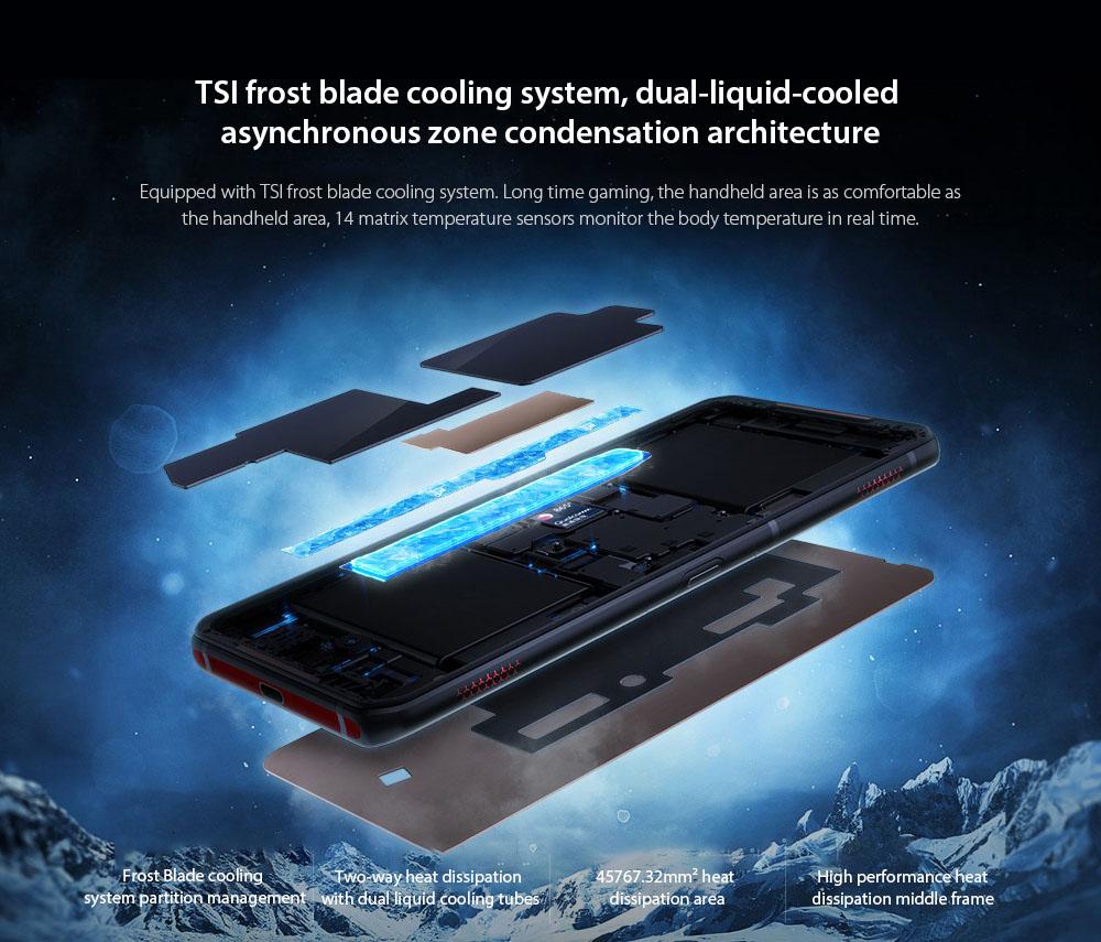 Lenovo Legion Pro 5G Smartphone TSI frost blade cooling system