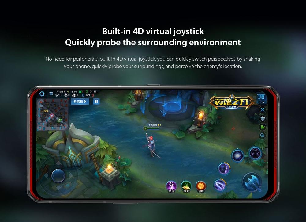 Lenovo Legion Pro 5G Smartphone Built-in 4D virtual joystick