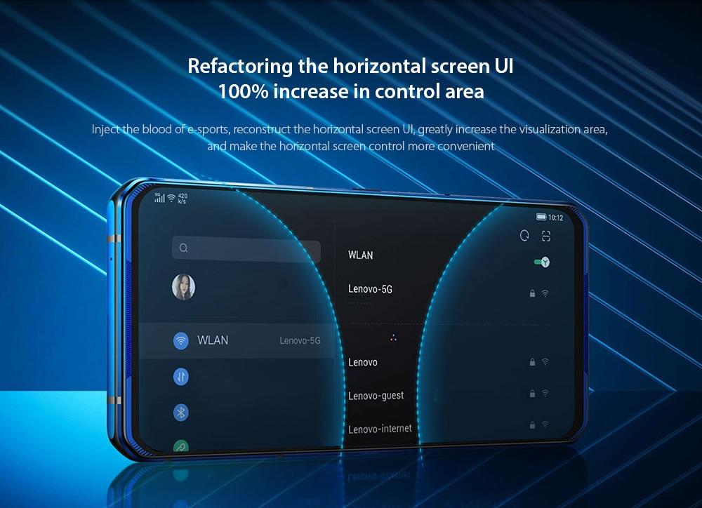 Lenovo Legion Pro 5G Smartphone Refactoring the horizontal screen UI