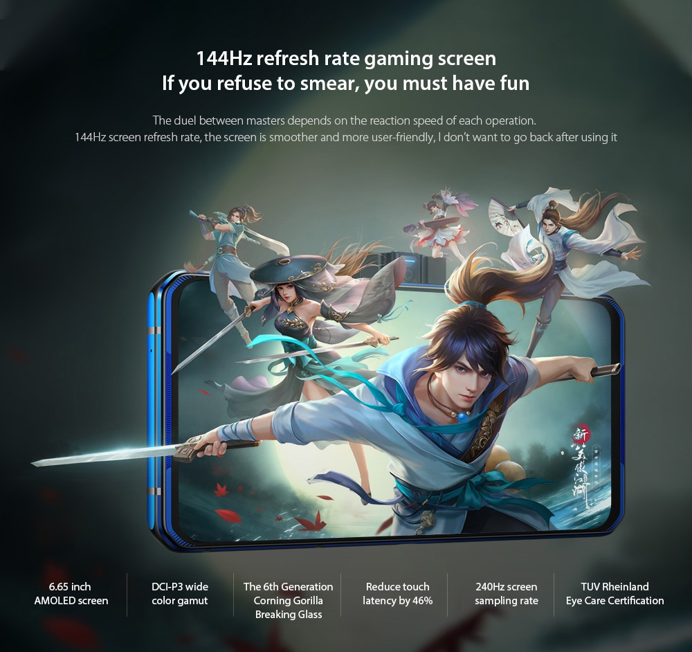 Lenovo Legion Pro 5G Smartphone 144Hz refresh rate gaming screen