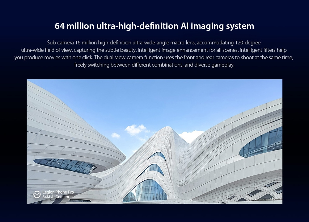 Lenovo Legion Pro 5G Smartphone 64 million ultra-high-definition AI imaging system