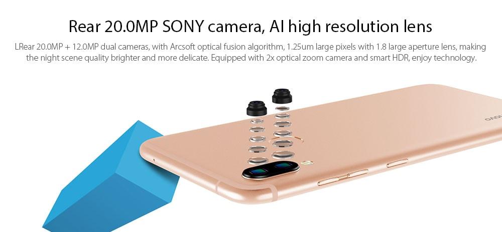 Lenovo S5 Pro 4G Smartphone Global Version Snapdragon 636 Octa Core 6GB 64GB 6.2 inch Rear Camera 20MP + 12MP Battery 3500mAh- Blue