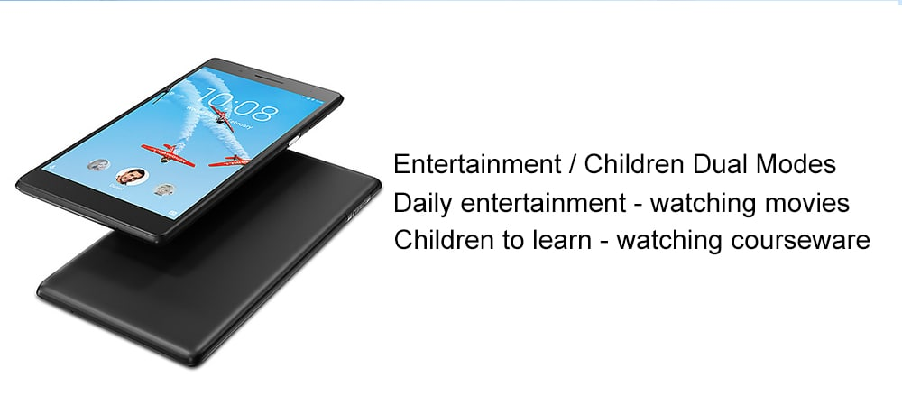 Lenovo TAB4 TB - 7304N 4G Phablet 7,0 hüvelykes Android 6.0 MT8735 Quad Core 1.0GHz 1GB RAM 16GB ROM 2.0MP Elülső kamera 3450mAh Beépített-Fekete