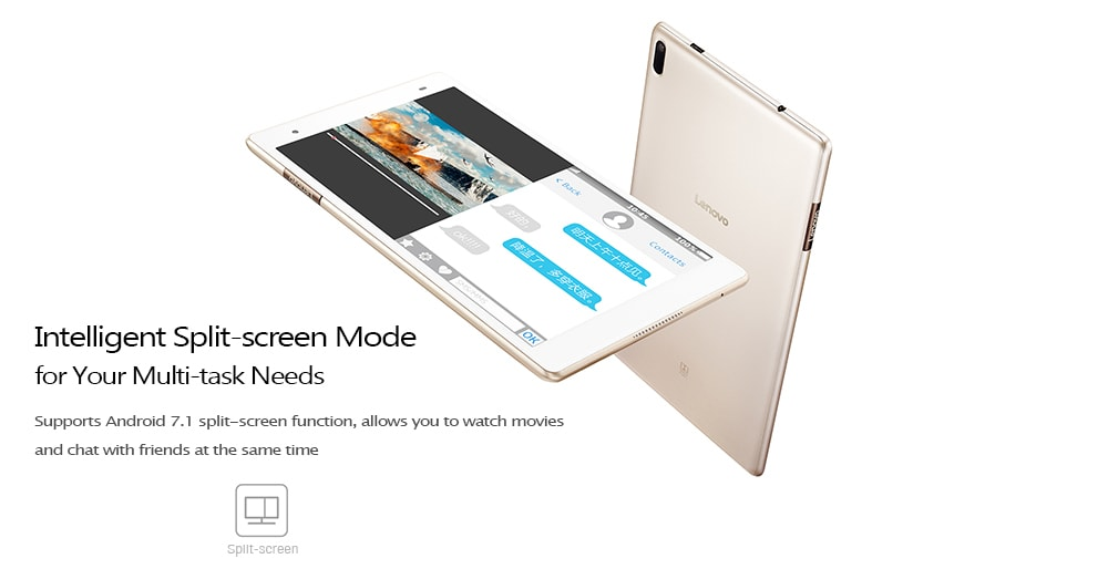 Lenovo Xiaoxin TB - 8804F Tablet PC 8.0 inch Android 7.1 Snapdragon 625 Octa Core 2.0GHz 4GB RAM 64GB ROM Dual WiFi 4850mAh Battery - Champagne Gold