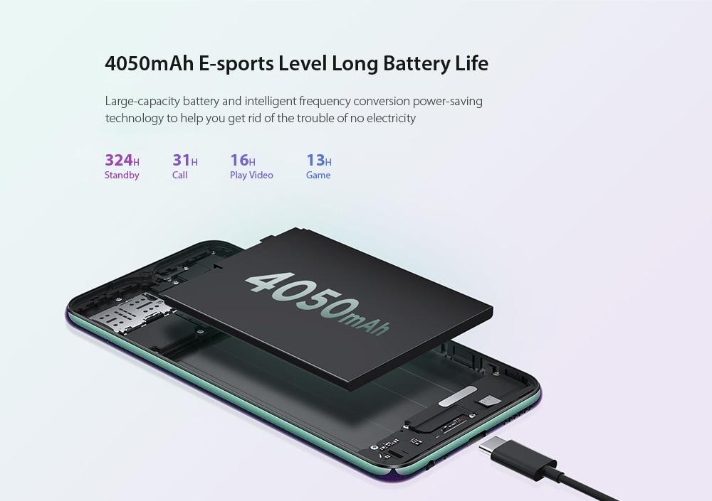 Lenovo Z6 Lite 4G Phablet 6.3 inch Android 9.0 Snapdragon 710 Octa Core 4GB RAM 64GB ROM 16.0MP + 8.0MP + 5.0MP Rear Camera 4050mAh Battery- Black