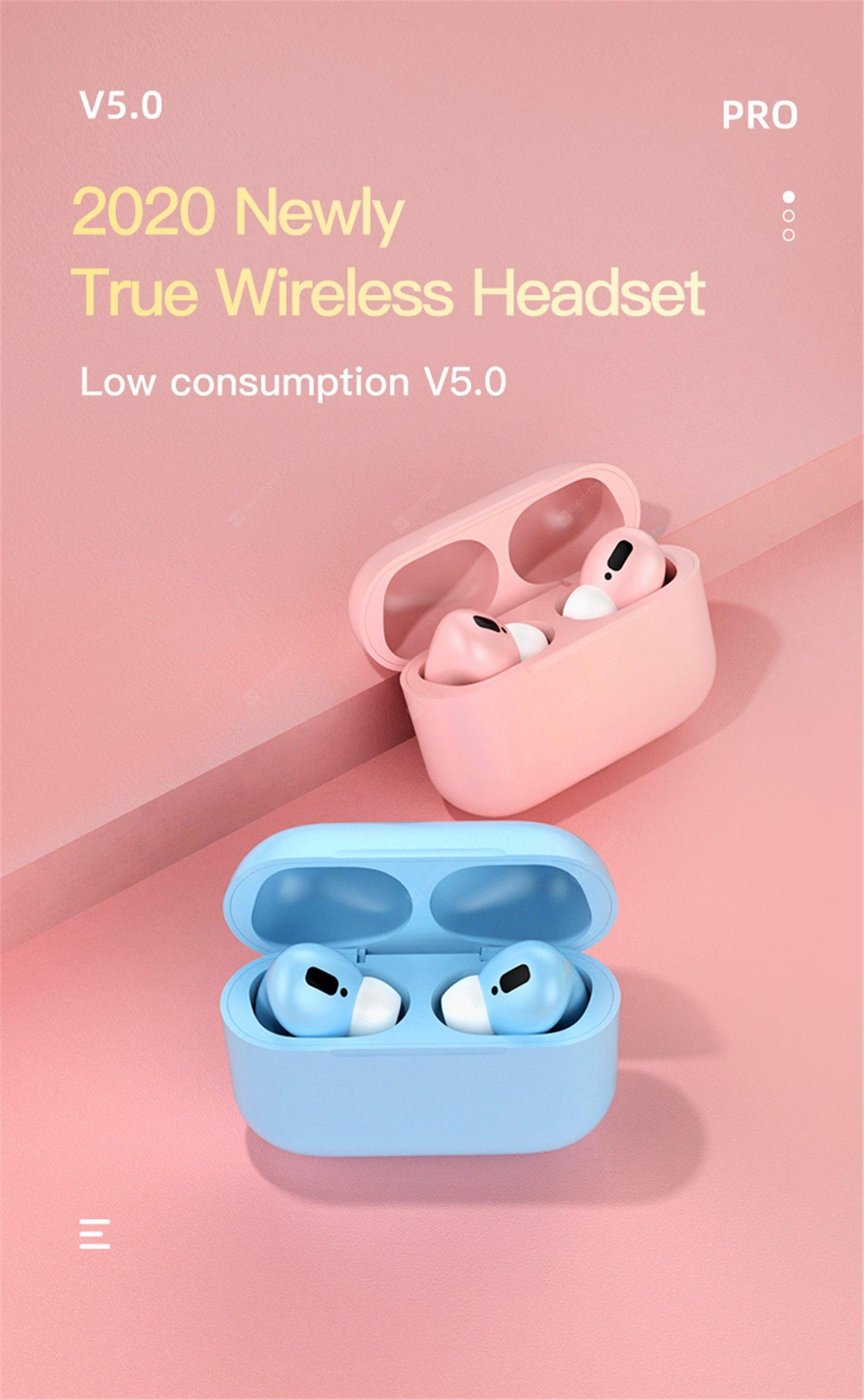 Macaron Color Pro Sports Earbuds- Pink