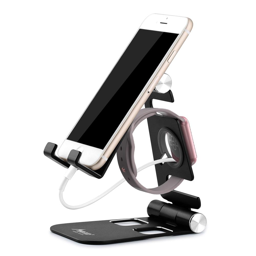 MAD GIGA HW07 - B Összecsukható tároló állvány telefon, tablet, óra és PlayStation-Black számára