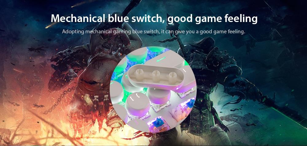 MAGIC _ REFINER 1505 108 Kulcsok A szellem elleni mechanikus billentyűzet kék kapcsoló-fehér