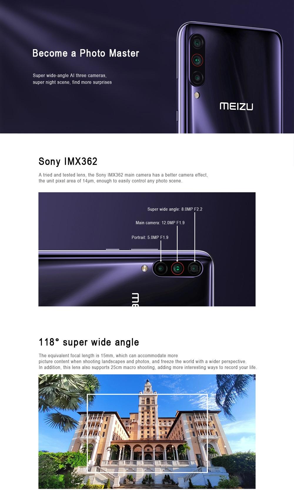 Meizu 16T 4G Phablet 8GB RAM 256GB ROM- Deep Blue