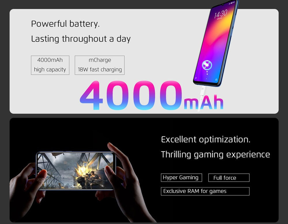 MEIZU Note 9 4G Phablet 6.2 inch Android 9 Qualcomm Snapdragon 675 Octa Core 2.0GHz 4GB RAM 64GB ROM 48.0MP + 5.0MP Rear Camera 20.0MP Front Camera Fingerprint Sensor 4000mAh Built-in Global Version- Black