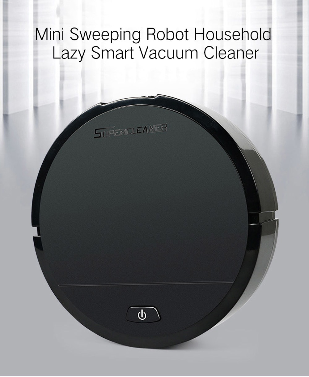 Mini Sweeping Robot Household Cleaning Machine Lazy Smart Vacuum Cleaner- Black